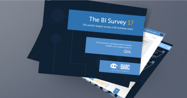 BARC BI Survey 2017 Qlik Rated By BI Users In 12 Top Categories