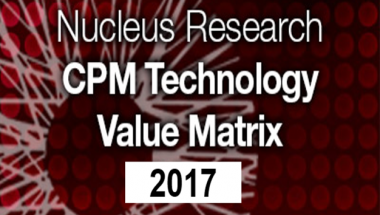 Nucleus Research 2017 CPM Technology Value Matrix