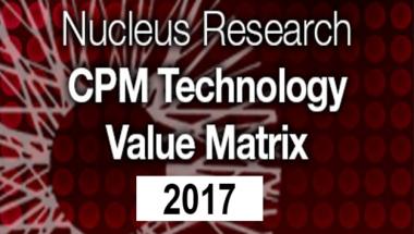 Nucleus Research 2017 CPM Technology Value Matrix