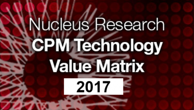 Host Analytics a Leader In Nucleus Research 2017 CPM Technology Value Matrix