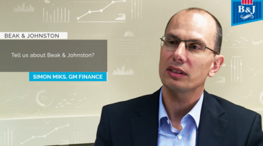 Simon Miks GM Finance Beak & Johnston Talks Host Analytics & cloud epm