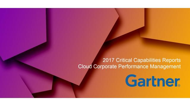 Gartner 2017 Critical Capabilities Cloud CPM Reports